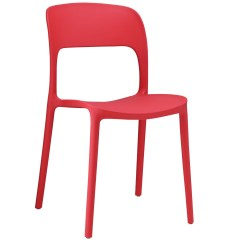 Modern Plastic Chair Medical Shower Cvs Hop Stackable Dining Side Red