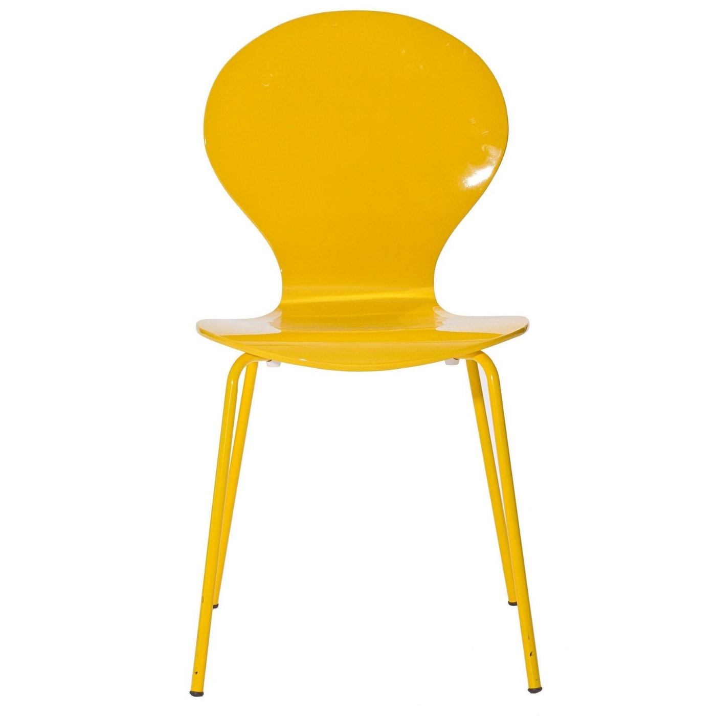 Insect Modern High Gloss Wood Side Chair With Chrome Legs