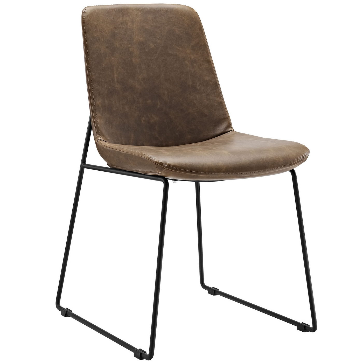 Invite Modernistic Padded Faux Leather Side Chair With