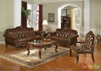 Irina Traditional Dark Wood Formal Living Room Sets with ...