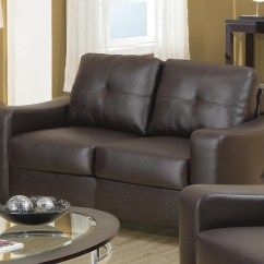 Almafi 2 Piece Leather Sofa Set And Love Seat Wine Colored Jasmine Contemporary Brown