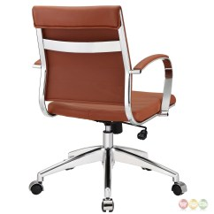 Wheelchair Base Butterfly Chair Leather Jive Modern Mid Back Ribbed Vinyl Office With Chrome