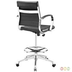 Modern Drafting Chair Wheelchair Names Jive Ribbed Vinyl Stool With Chrome Foot