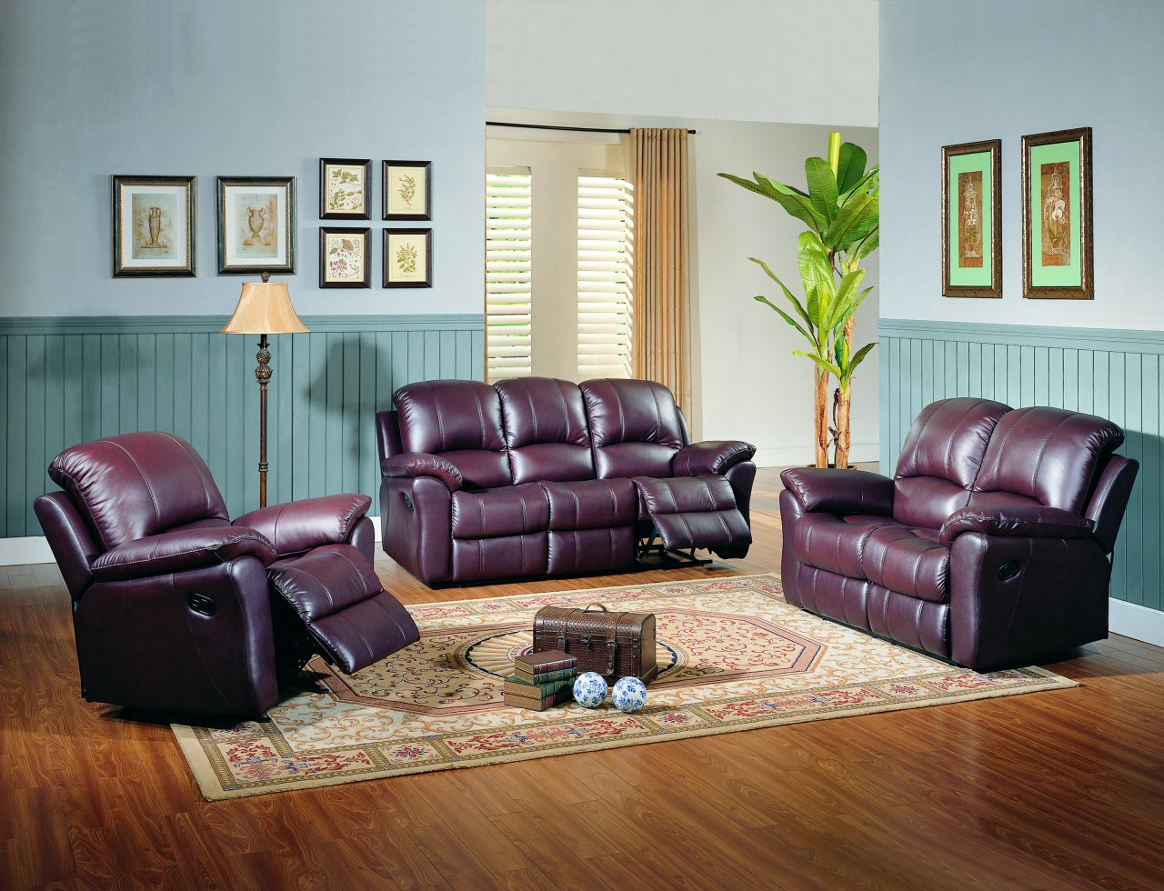living room ideas with burgundy leather sofa lazy boy sectional sleeper parker jupiter black cherry reclining