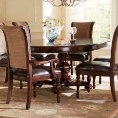 Fancy Dining Chairs High Chair For Standing Desk Kingston Plantation Traditional Oval Table And 7 Pc