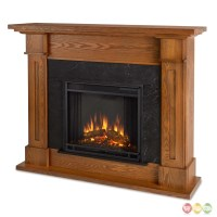 Kipling Electric Heater Led Fireplace In Burnished Oak ...