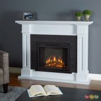Kipling Electric Heater Led Fireplace In White, 4700btu, 54x42