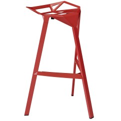Red Metal Chairs Target Linen Chair Covers Dining Room Launch Ultra Modern Aluminum Stacking Bar Stool