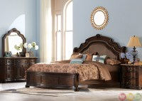 Le Grande European Style Burl Wood Platform Bedroom Set