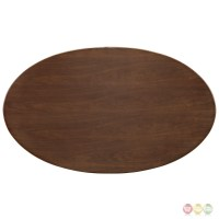 """Lippa 60"""" Oval-shaped Walnut Top Dining Table With ..."""