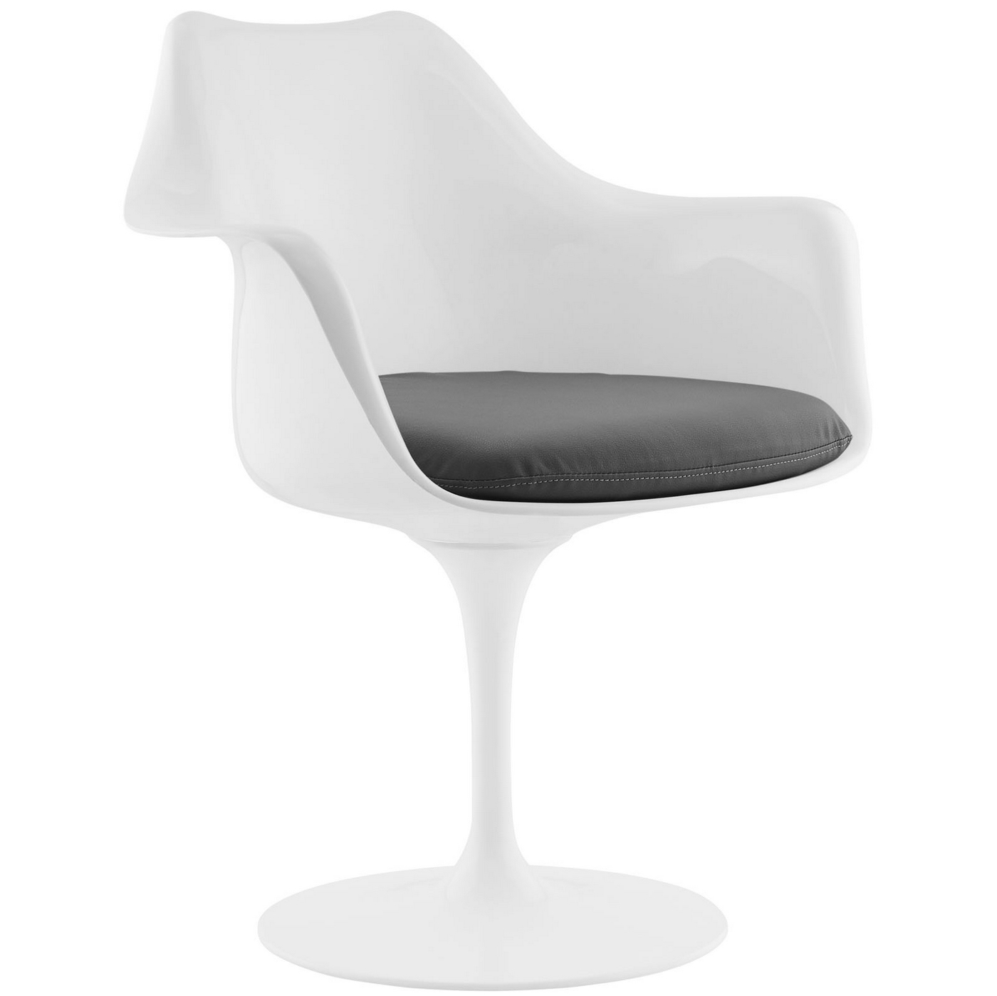 Lippa Modern Upholstered Vinyl Dining Arm Chair With