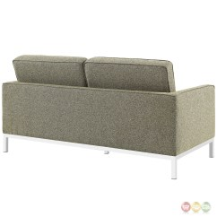 Oatmeal Sofa Set Company Furniture Egypt Loft Modern 2pc Upholstered Button Tufted And Loveseat
