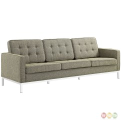 Tufted Sofa Set Sage Green Throw Loft Modern 2pc Upholstered Button And Loveseat
