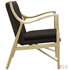 Wood Frame Chair Posture Brace Makeshift Modern Upholstered Lounge With Ash