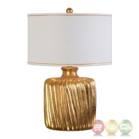 Marigold Classic White & Gold Table Lamp With Cylinder ...