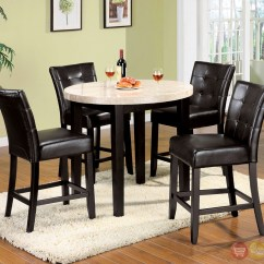 Espresso Table And Chairs Deck Chair Accessories Marion Iii Contemporary Counter Height Dining Set