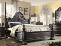 Matteo Gothic Style 4-pc California King Bed Set In Ebony ...