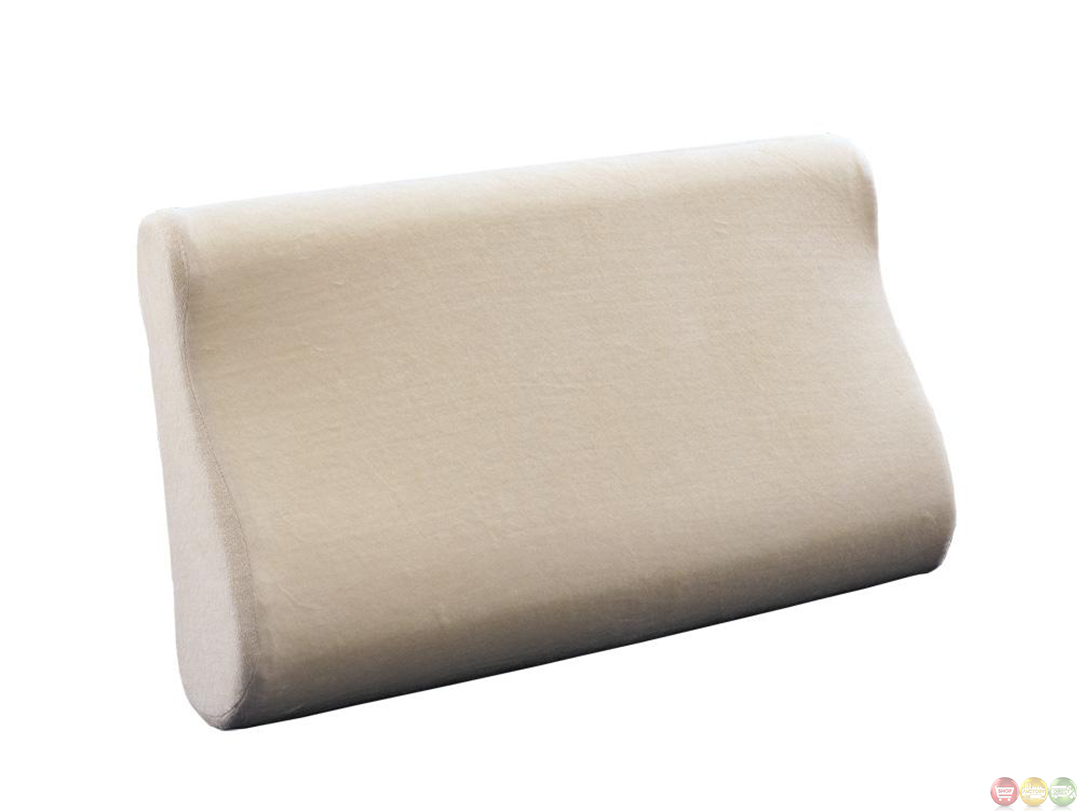 Memory Foam Standard Contemporary Contour Neck Pillow