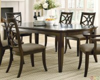 Meredith Contemporary 7 Piece Dining Room Table and Chairs ...