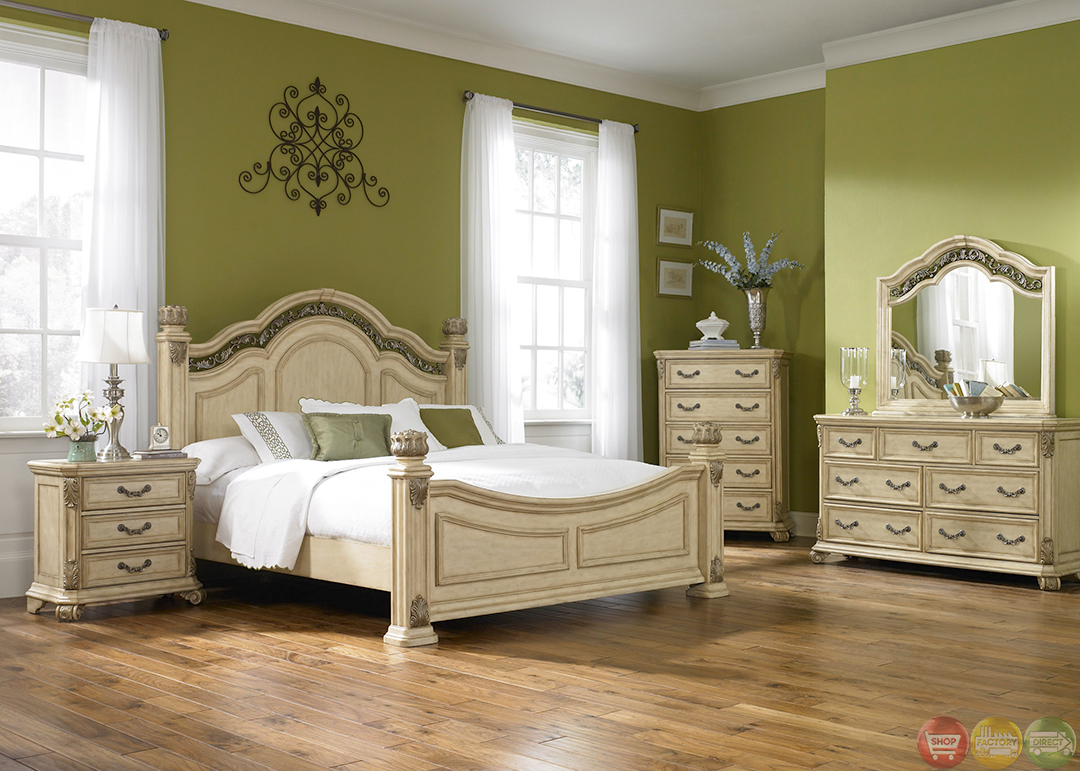 Messina Estates II Whitewash Finish Poster Bedroom Set