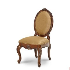Oval Back Dining Room Chairs How To Make Chair Covers For Michael Amini Lavelle Shaped Melange Finish 2