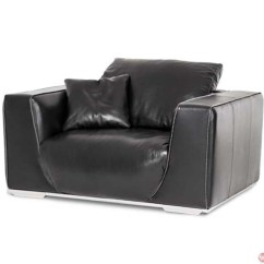 Black Leather Chair And A Half Upholstered Folding Chairs Michael Amini Mia Bella Sophia Onyx