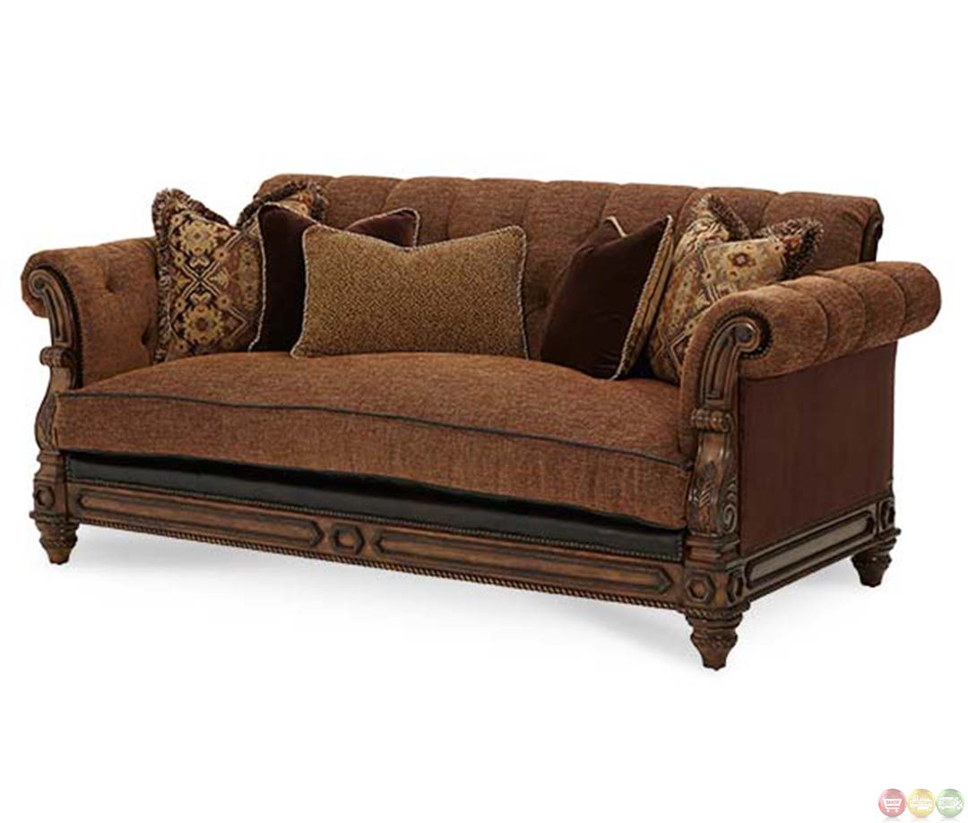 leather fabric for sofa india how to wrap your storage michael amini vizcaya and upholstery