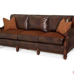 Courts Sofa Simmons Sleeper Michael Amini Windsor Court Leather And Fabric Wood Trim