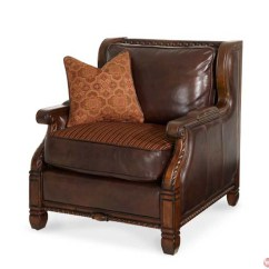 Wood And Leather Chair Gaming Chairs For Ps4 Michael Amini Windsor Court Trim Fabric