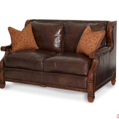 Fabric Sofa Sets With Wood Trim Friends Pivot Episode Michael Amini Windsor Court Leather And