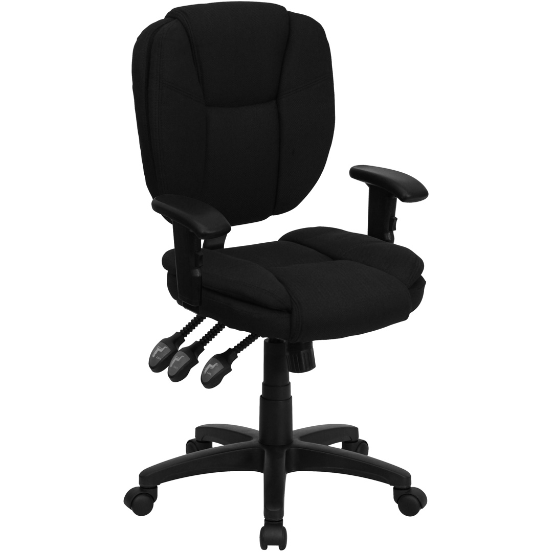 task chair without arms low cost covers birmingham mid back black fabric multi functional ergonomic