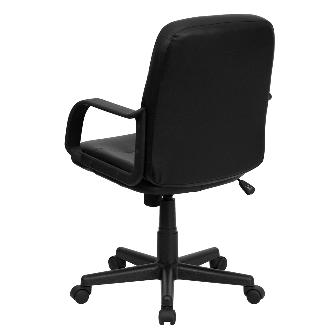 office chair vinyl expensive high chairs babies mid back black glove executive h8020 gg