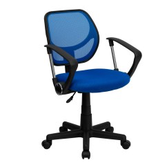 Computer Chair With Arms Office Big W Mid Back Blue Mesh Task And