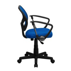 Computer Chair With Arms Bucket Covers For Sale Mid Back Blue Mesh Task And