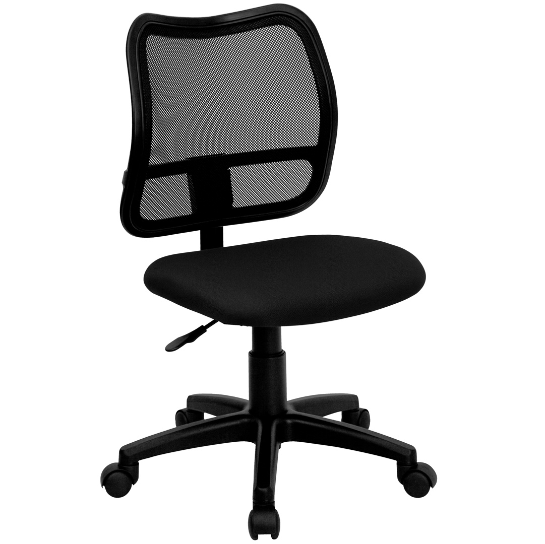 MidBack Mesh Task Chair with Black Fabric Seat WLA277BKGG