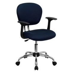 Mesh Task Chair Hanging In Balcony Mid Back Navy With Arms And Chrome Base H