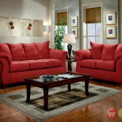 Living Room Red Sofa Decorative Pillows For Leather Sofas Modern And Loveseat Furniture Set