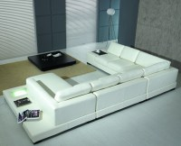 Modern White Bonded Leather Sectional Sofa T35 ...