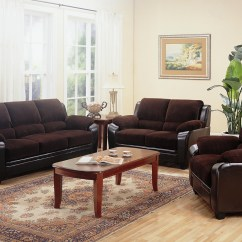 Living Room Sofa And Loveseat Cushions On Brown Leather Monika Two Toned Dark Corduroy Casual