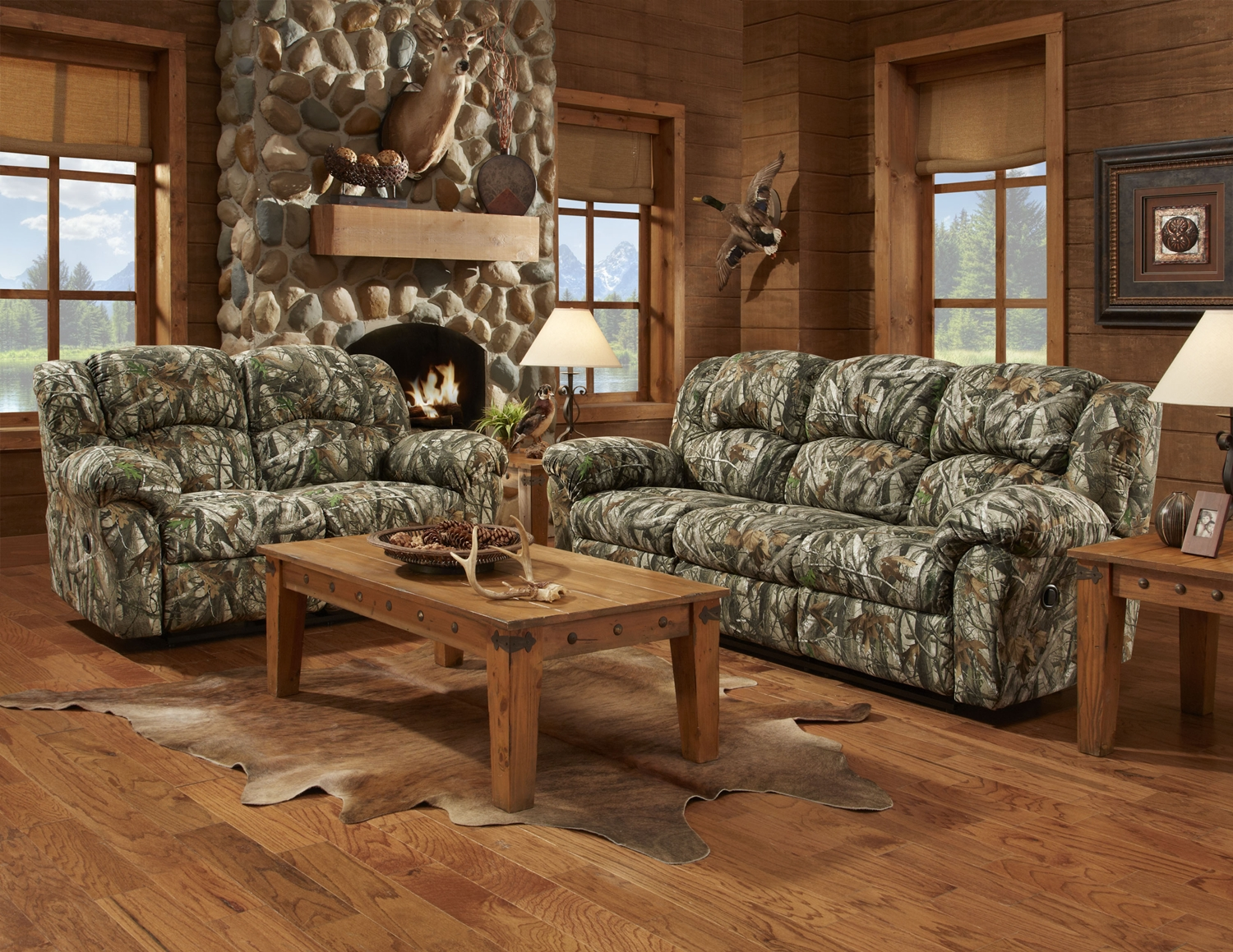Camo Recliner Chair Mossy Oak Camouflage Reclining Motion Sofa Loveseat Camo
