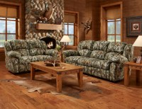 Mossy Oak Camouflage Reclining Motion Sofa & Loveseat ...
