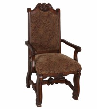 Neo Renaissance Traditional Formal Dining Upholstered Arm ...