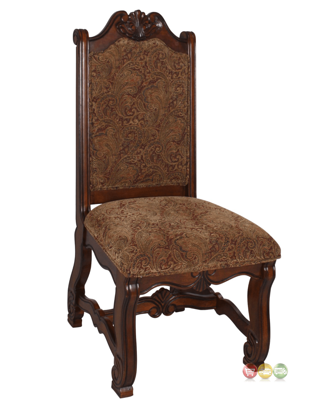 Neo Renaissance Traditional Formal Dining Upholstered Side