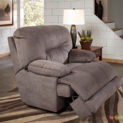 Recliner Chair Covers Grey Flexsteel Side Table Noble Slate Gray Lay Flat Cuddler Oversized