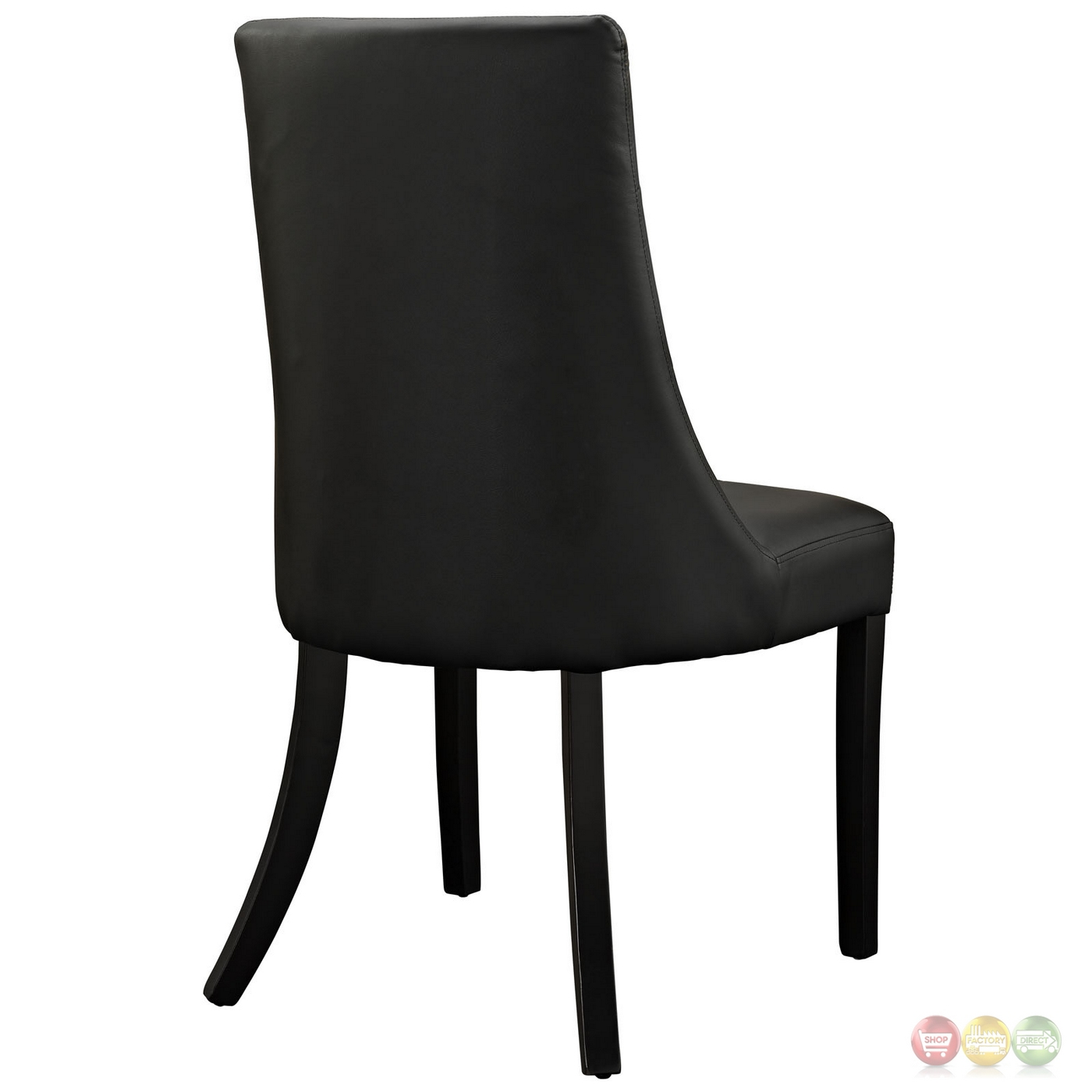Patterned Chairs Noblesse Contemporary Dining Patterned Vinyl Side Chair Black