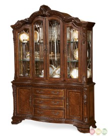 World Traditional Style Carved Detail China Cabinet