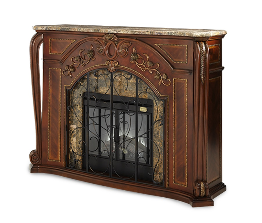 Michael Amini Oppulente Fireplace with Marble Top