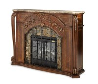 Michael Amini Oppulente Fireplace with Marble Top ...
