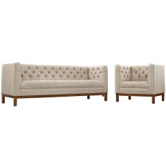Panache Sofa Set Rooms To Go Sleeper Sectional Mid Century Modern 2pc Upholstered And Armchair