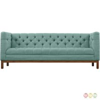 Panache Vintage Square Button-tufted Upholstered Sofa, Laguna
